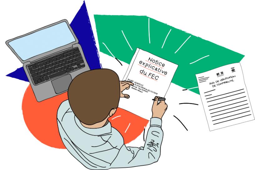 Modèle de conception de notice explicative accompagnant le FEC