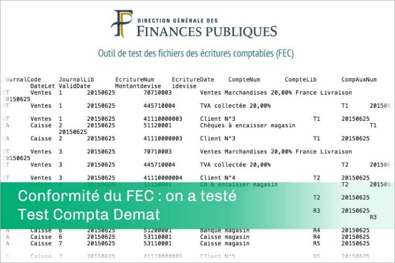 Conformité du FEC : MasterFEC a testé Test Compta Demat